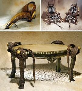 Мебели от щраусова кожа