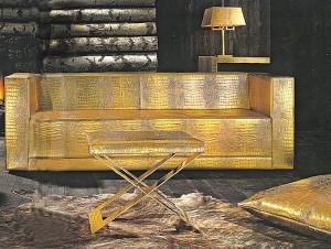 Луксозния диван в дома на Филип Киркоров