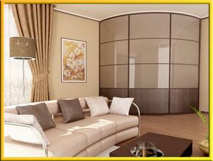 Радиусни мебели у дома