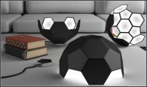 Дизайнерска футболна лампа