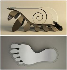 Оригинално дизайнерско решение за маса