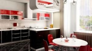 Кухня в елегантно червено