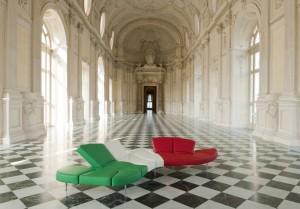 Патриотични мебели от Италия