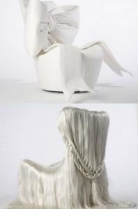 Дизайнерски стол с прическа