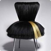 Дизайнерски стол с коса