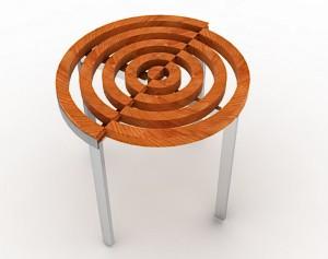 Компактна сгъваема кръгла маса