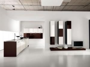 Интериор на кухня в бяло